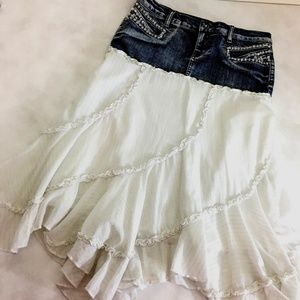 Candies Skirt Juniors Size 5 Boho Jean